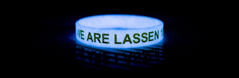 We are Lassen glowing bracelet